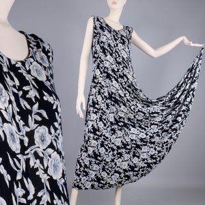 L/XL Vintage 90s Oversized Boho Maxi Dress